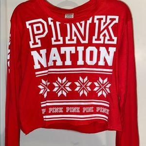 Victoria Secret PINK crop top long sleeve